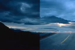 Landschaft Nordkapp, Straße und Himmel